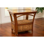 Panama End Table with Glass Top