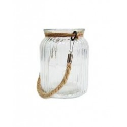 Round Jar with Rope Handle