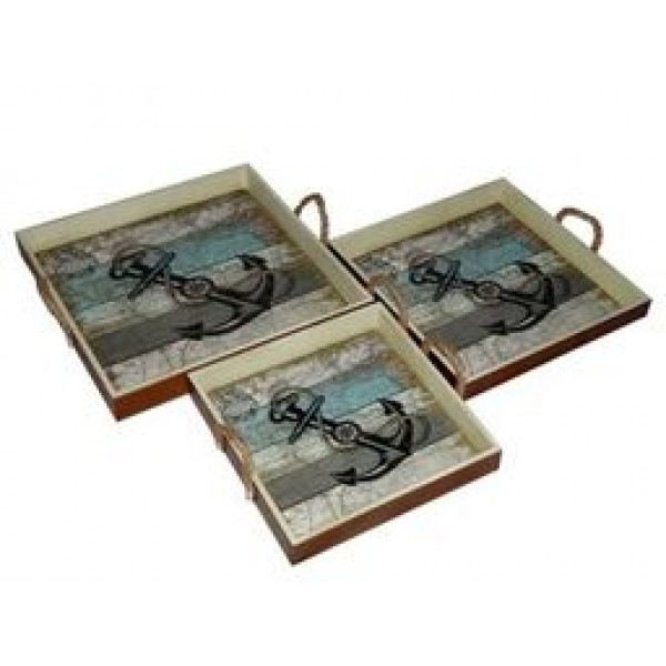 Nautical Anchor Trays
