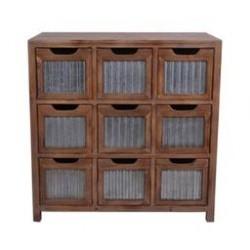 Urban Galvanized Drawer Cabinet