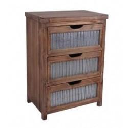 Small Urban Galvanized Drawer Cabinet