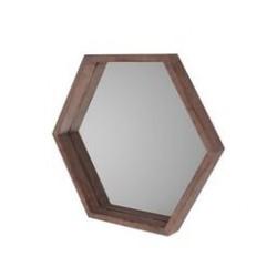 Weathered Hexagonal Mirror