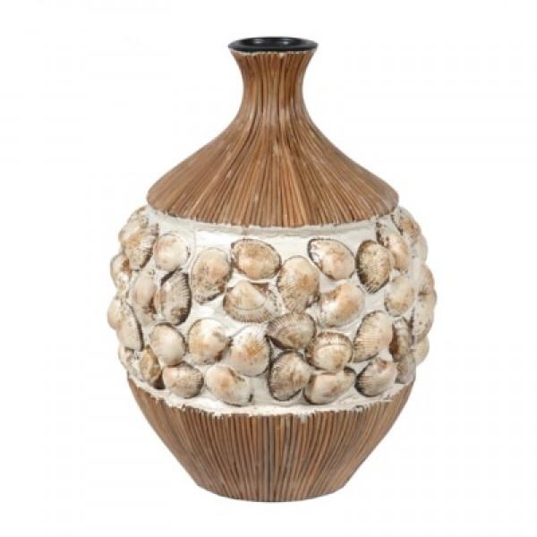 Ceramic Vase with Clam Shells - Large