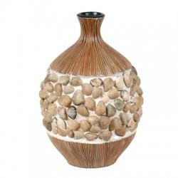 Ceramic Vase with Clam Shells - Medium