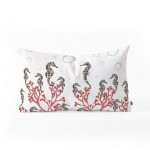 Seahorse Forest Throw Pillow