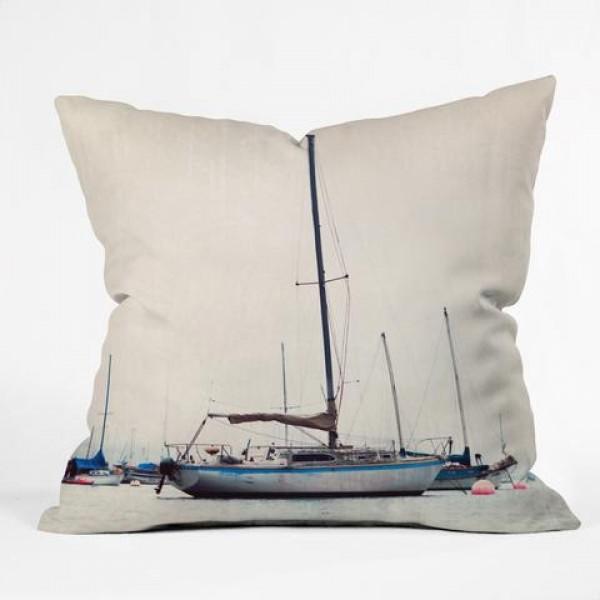 Ships at Sea Throw Pillow