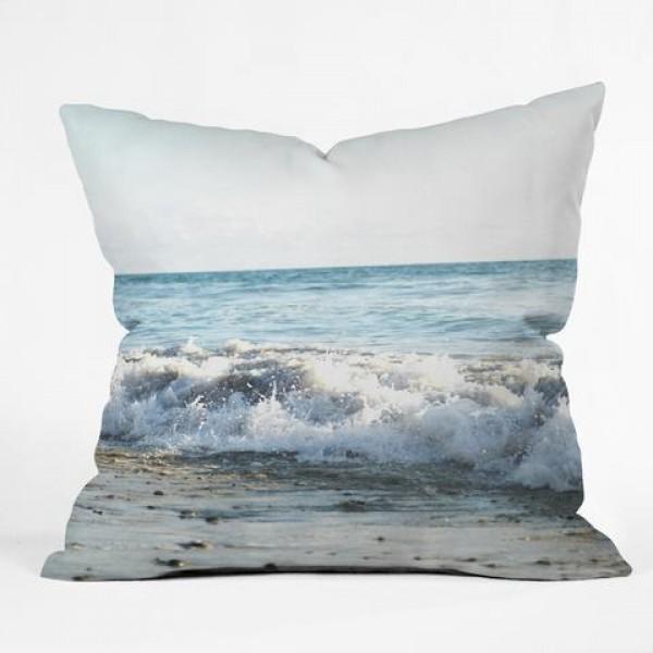Wave Crush Throw Pillow
