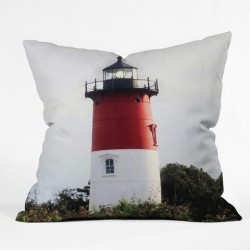 Nauset Beach Lighthouse #3 - Throw PIllow