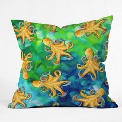Octopus Pattern Throw Pillow