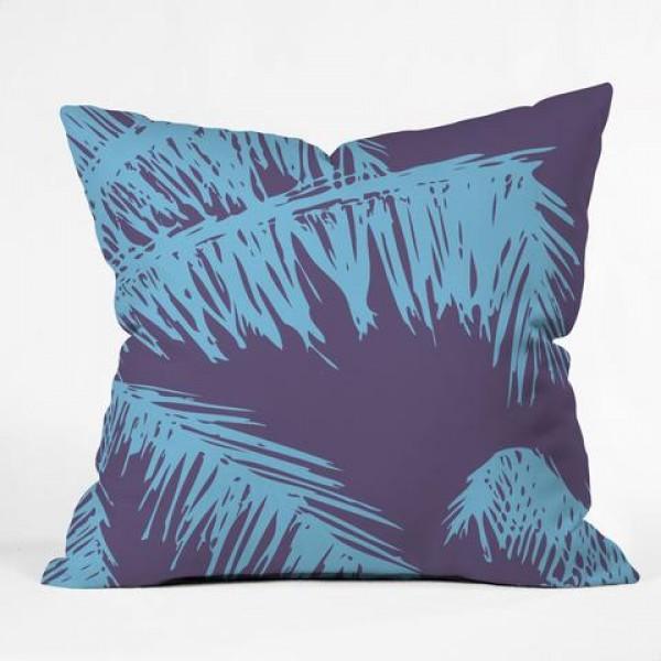 Silhouette Violet Palm Throw Pliiow