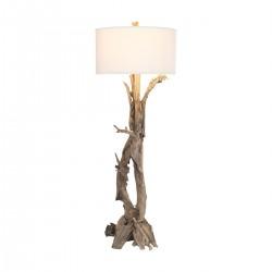 Hounslow Heath Floor Lamp in Natural Teak Root