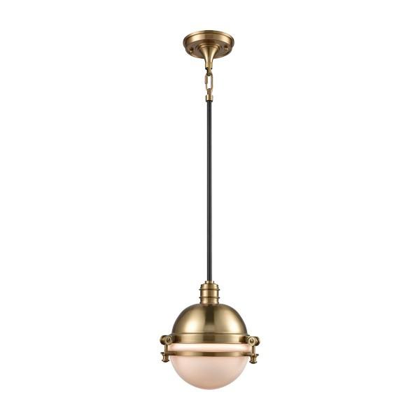Riley 1 Light Globe Pendant In Satin Brass