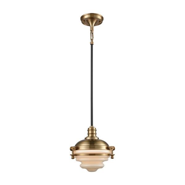 Riley 1 Light Pendant In Satin Brass