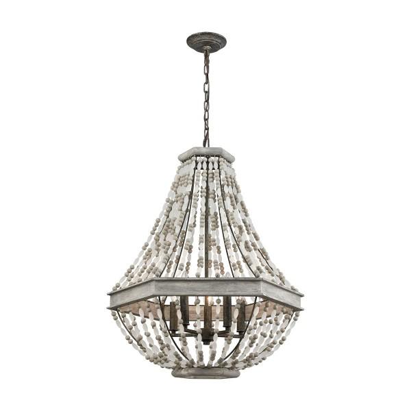 Summerton 5 Light Pendant - Washed Gray
