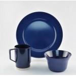 Galleyware Solid Color Melamine Dinnerware Gift Set - Blue