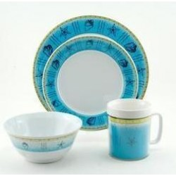 Galleyware Decorated Melamine Dinnerware Gift Set - Offshore