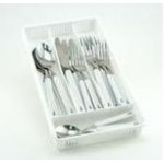 Anchor Flatware - 20 Piece set plus storage tray (Service for Four)-WHITE