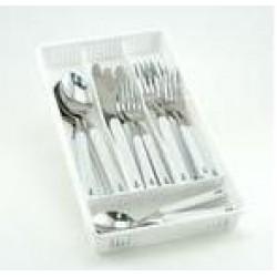 Anchor Flatware - 20 Piece set plus storage tray (Service for Four)-WHITE