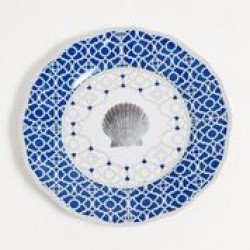 """Yacht and Home Melamine 9"""" Salad/Dessert Plate - Moroccan Shell"""