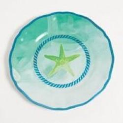 "Yacht and Home Melamine 9"" Salad/Dessert Plate - Starfish"