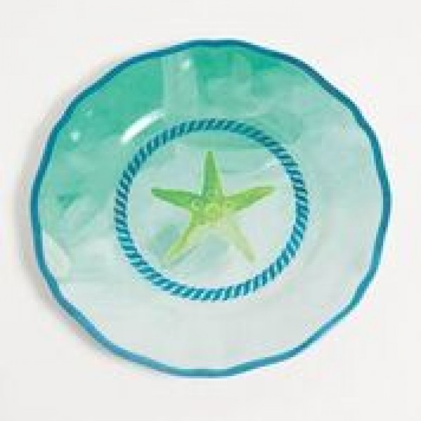 "Yacht and Home Melamine 9"" Salad/Dessert Plate - Starfish"
