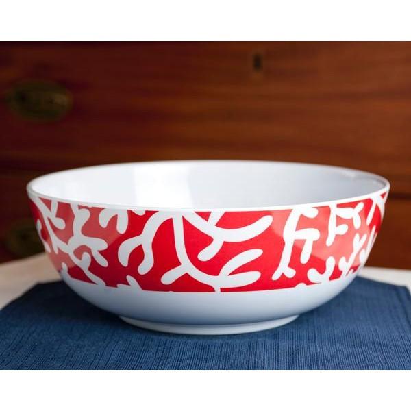"Melamine 11"" Bowl - Red Coral"