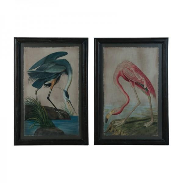 Blue Heron And Flamingo