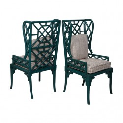Bamboo Wing Back Chair