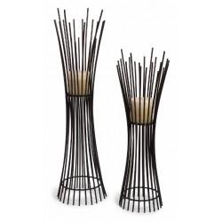 Metal Floor Height Candle holder Duo