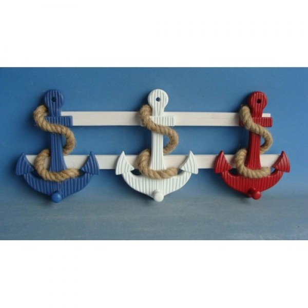 Red-wht-blue Anchor Wall Pegs