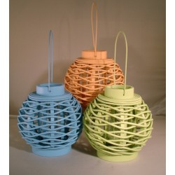 Set of 3 Colored Lanterns