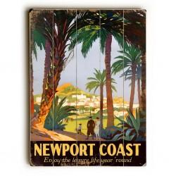 Newport Coast Planked Poster