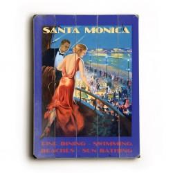 Santa Monica Planked Poster