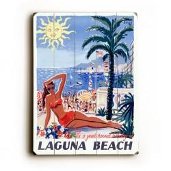 Laguna Beach Planked Poster