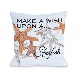 Wish Upon a Starfish - Multi Throw Pillow