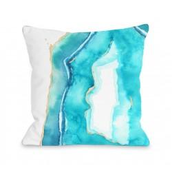 Bold Formations - Caribbean Aqua Throw Pillow