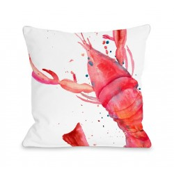 Oversized Lobster Throw Pillow