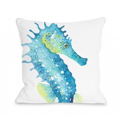 Oversized Seahorse Throw Pillow
