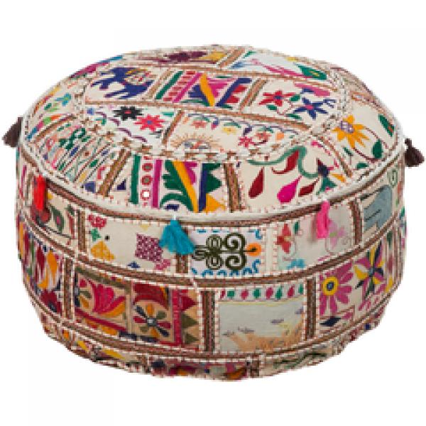 Karma by Surya - Embellished Pouf