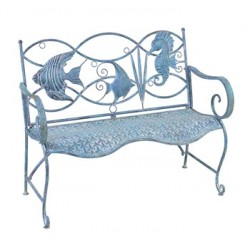 Fish and Seahorse Back Bench