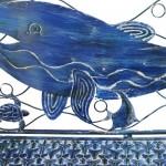 Coastal Whale Bench